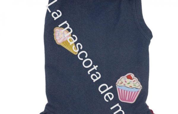 Vestido azul cupcake y helado