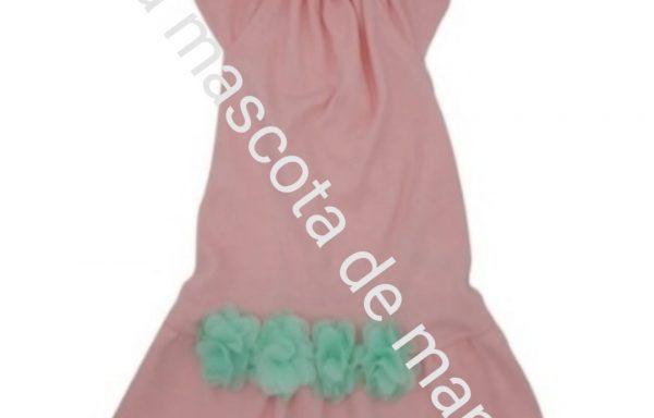 Vestido rosa pastel