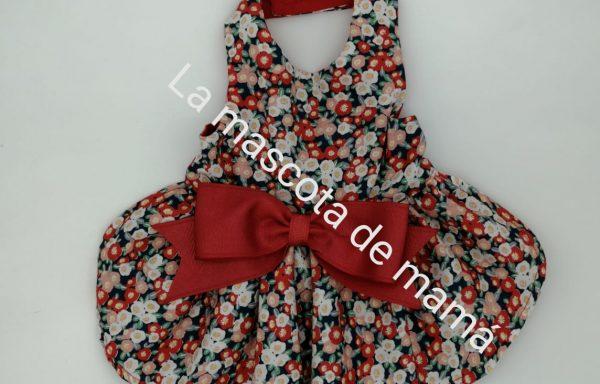 Vestido flores rojas